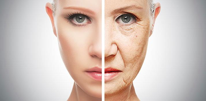 half face aging