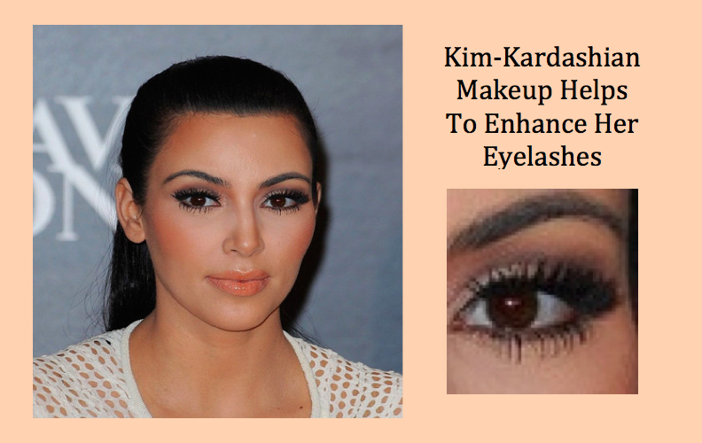 kim-kardashian enhance her eyelashes