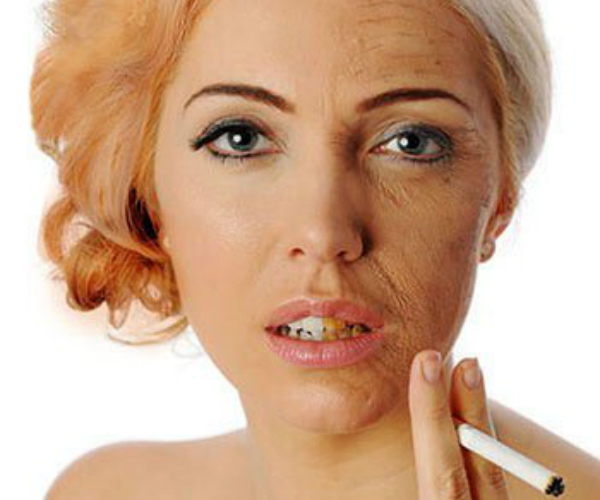 how does smoking effects the skin