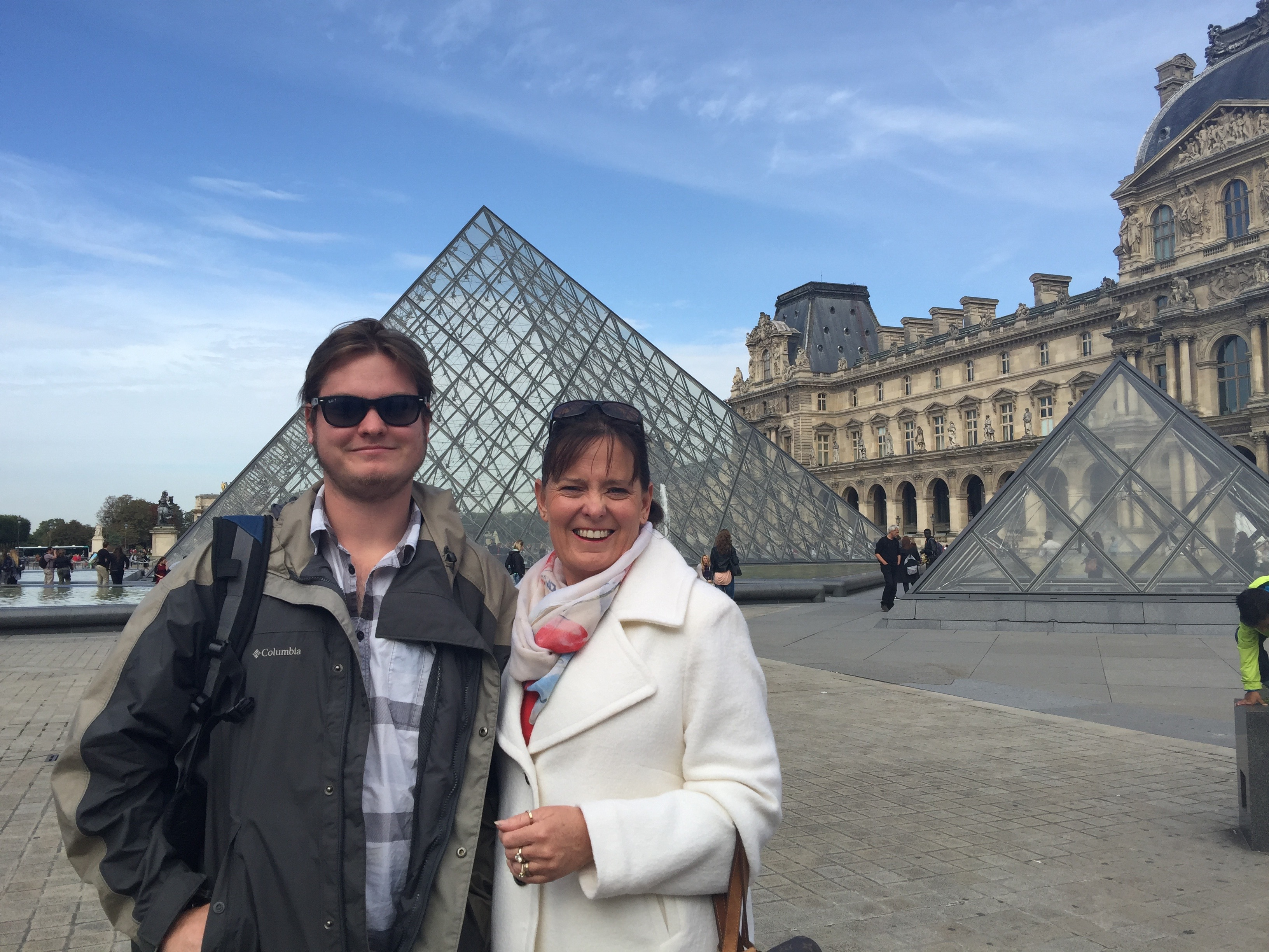 Debra Spence and Bryce in Paris